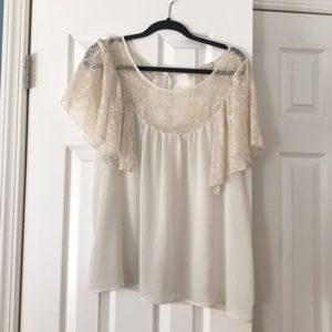 White blouse, loose fitting